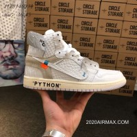 27186094885 2020 Free Shipping Men OFF-WHITE X Air Jordan 1 Basketball Shoes SKU 107858
