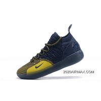 "e15fec9b178d Nike KD 11 ""Michigan"" College Navy University Gold AO2604-400 Authentic"
