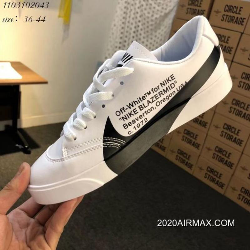 new styles 541c3 45a96 Women OFF-WHITE X Nike Blazer City Low Sneakers SKU:81085-364 2020 Latest