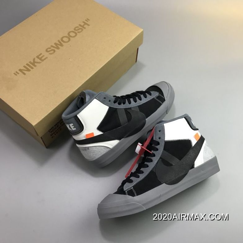 2020 New Release Men OFF-WHITE X Nike Blazer Mid Running Shoes SKU:51975-433